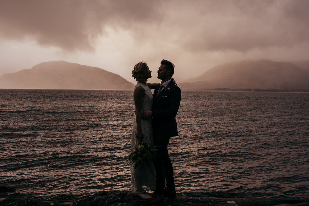 Sunset Wedding Portrait Scotland