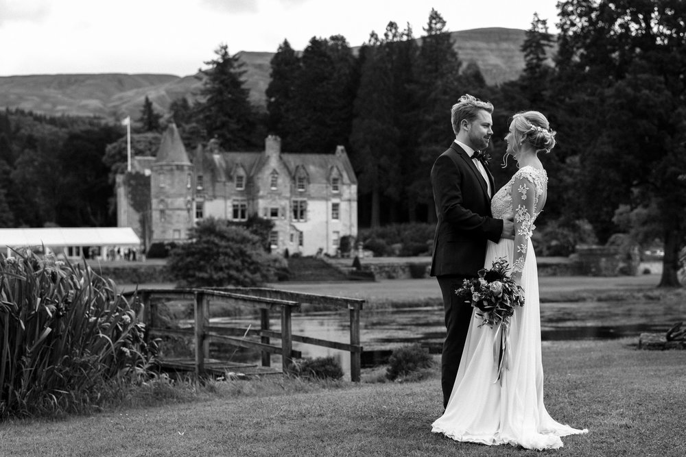Duntreath Castle Wedding Portrait