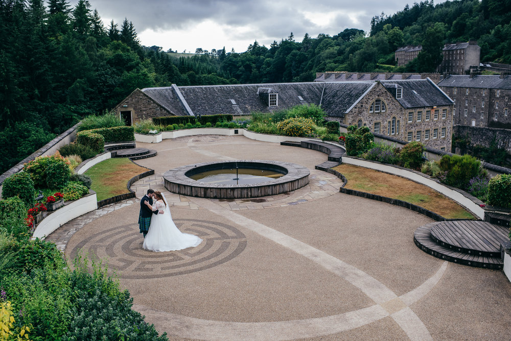 New Lanark Mill Roof Wedding
