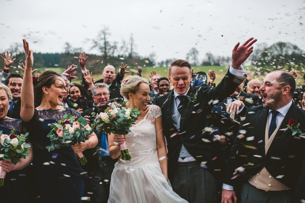 Windy Wedding Confetti Aberdeen