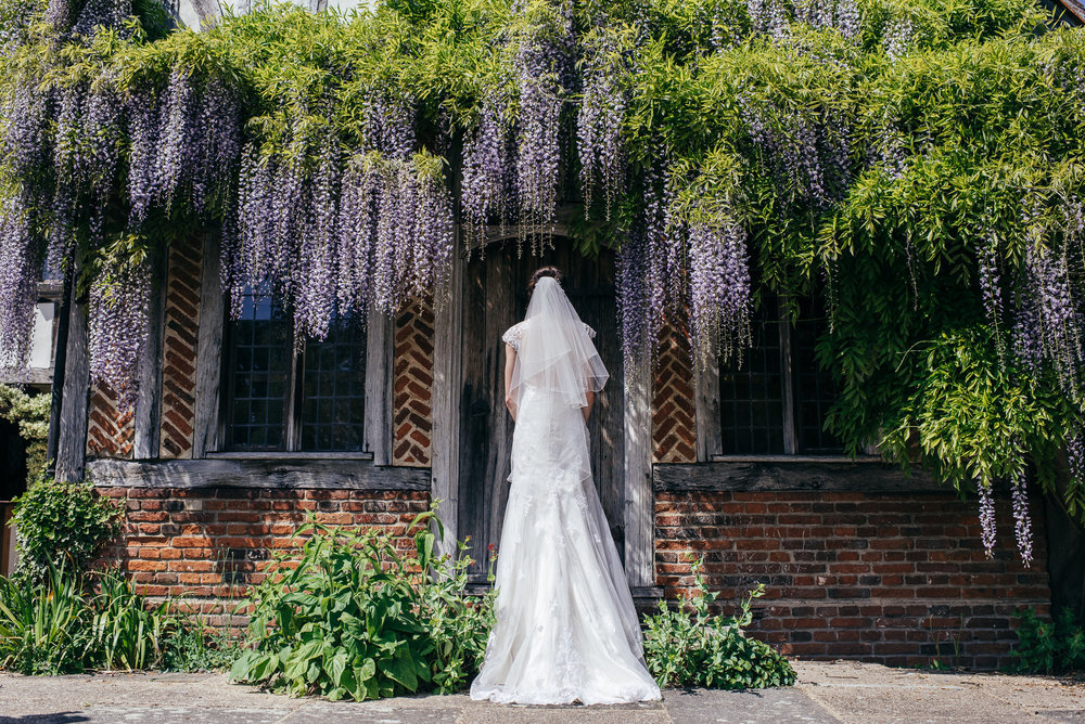 Creative wedding dress photograph