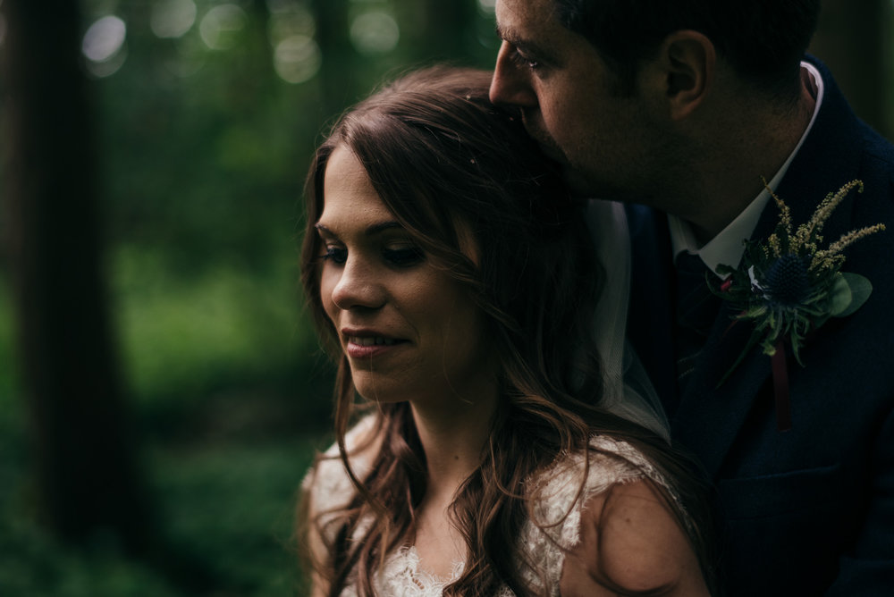 Bride portrait in Scottish woodland