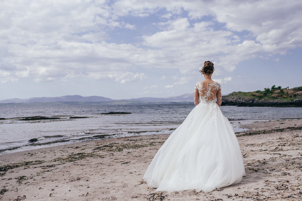 Bride portrait on beach