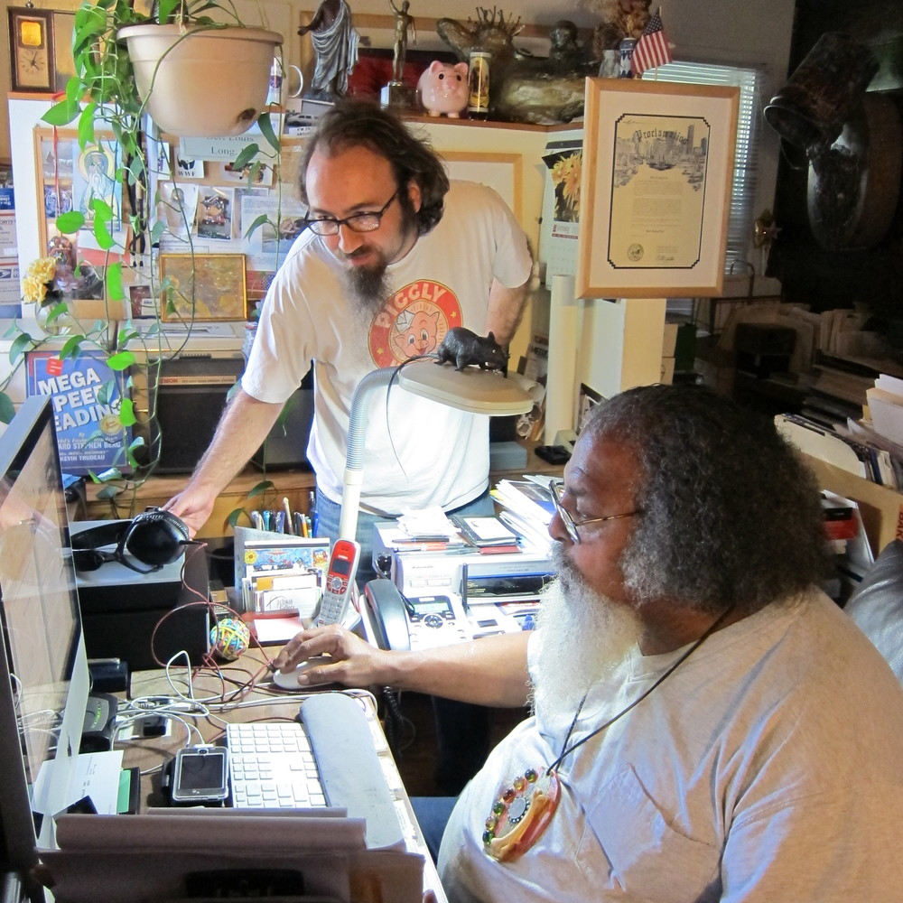 Pete Gershon working with Bert L. Long, Jr., July 2012. Photo by Joan Batson