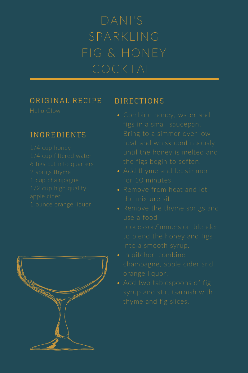 Dani's   Favorite Thanksgiving Cocktail : Let's be honest, this girl's cooking is comparable to  Rachel Green and her Trifle . Cheers.