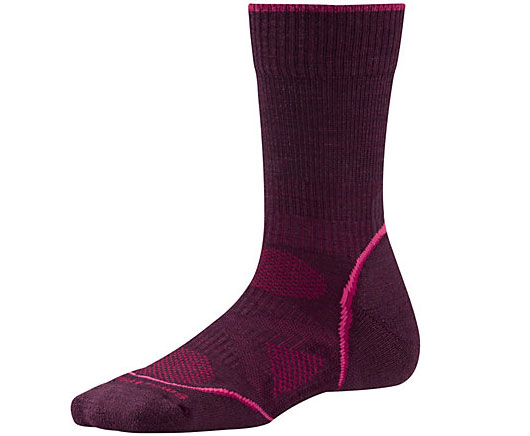 Women's PhD Outdoor Light Crew Socks: Featuring a women's specific design, this sock stays in place and offers a light cushion for all-day performance.
