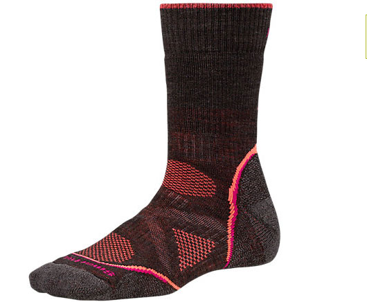 Women's PhD Outdoor Medium Crew Socks: Featuring a women's specific design, this sock stays in place and offers a light cushion for all-day performance.