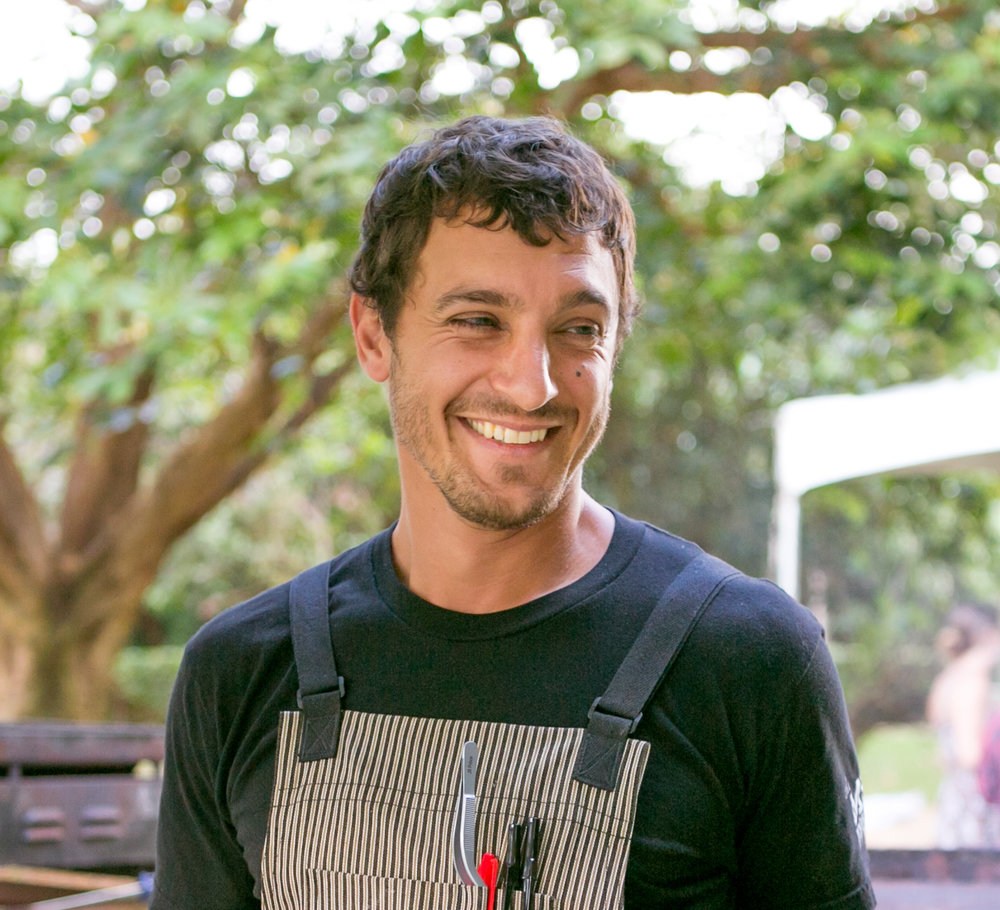 JEFF SCHEER, MAUI  An ardent Chef who draws his inspiration from Hawaii's bounty, an advocate of local farmers, and a Jenga expert.  whole animal butchery, dedication to local ingredients, focus on interesting textures  Executive Chef Mill House Restaurant - previous Chef/Owner Maui Executive Catering - developed the popular Maui Chefs Table - 'Aipono 2015 Chef of the Year - Chef Instructor Maui Culinary Academy