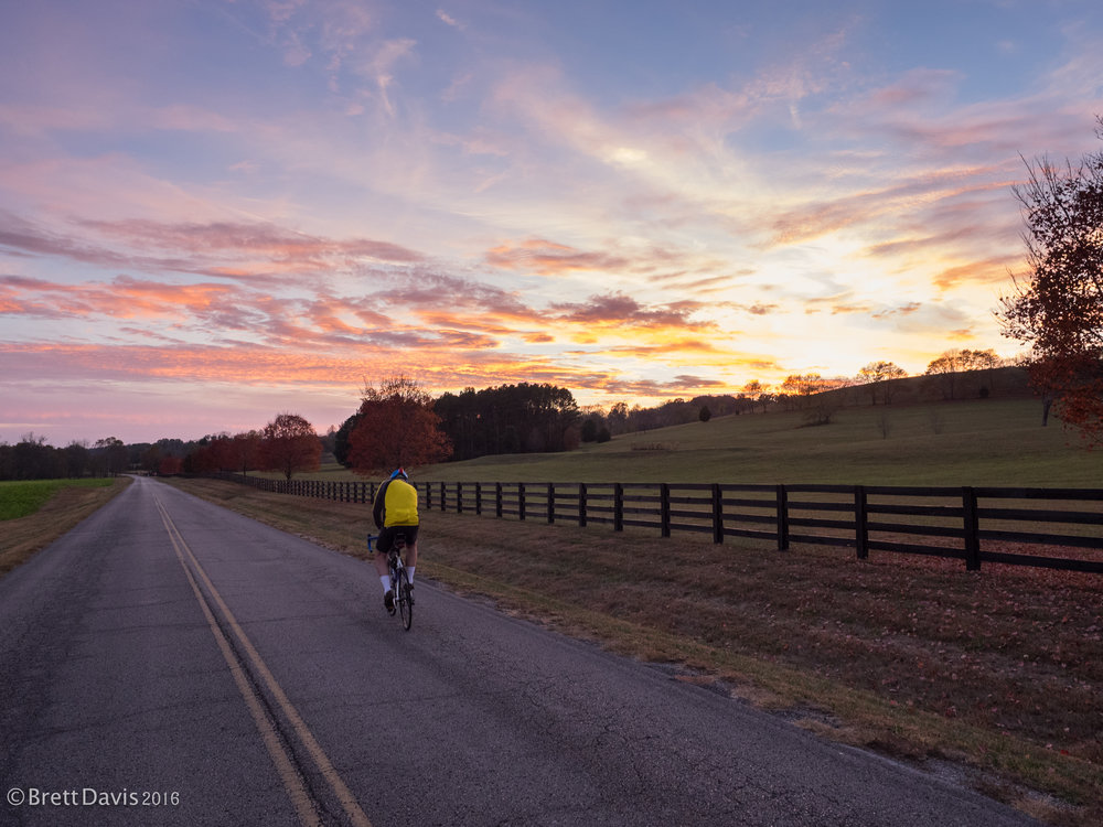 The Tennessee sky was on fire as we finished the initial afternoon of riding.