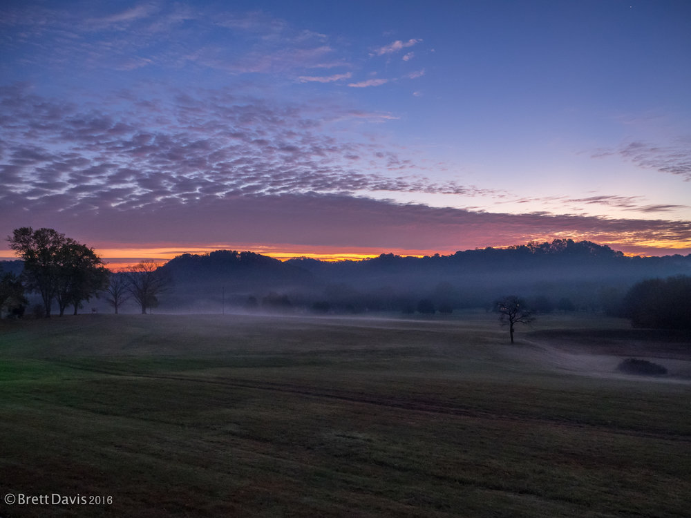 An amazing start to a new day on the Trace.