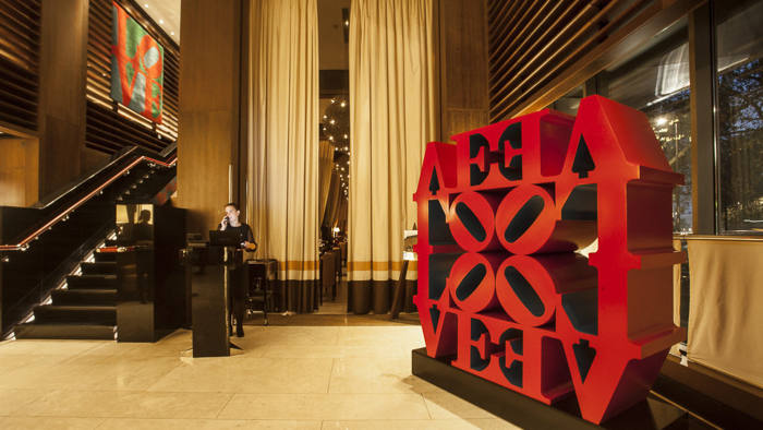 Works by Robert Indiana in 45 Park Lane