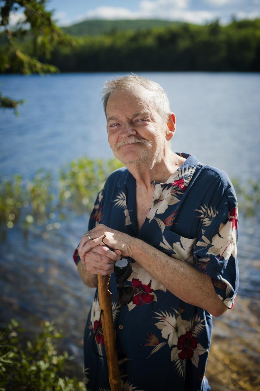 Frank Van Valen, in his backyard in central New Hampshire.