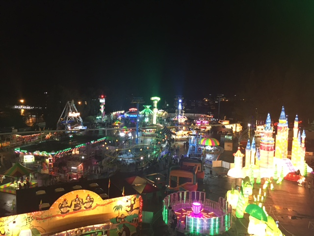 From the top of the Ferris wheel...