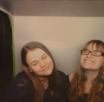 A photo booth picture from last month.