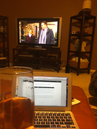 Iced tea this time, with a murder mystery as a bonus.