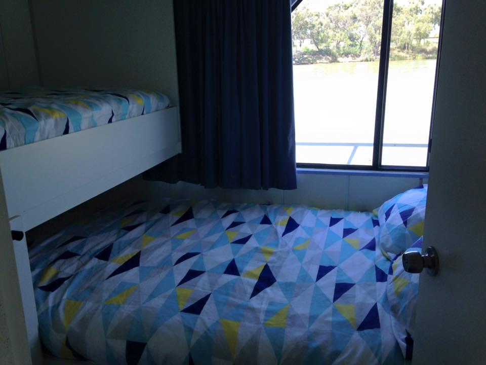 Queen bed with bunk