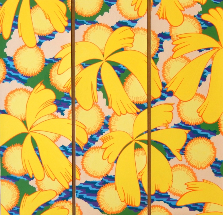 Design for a Folding Screen, Daffodils