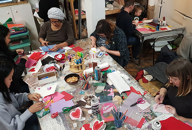 Image from the 2017 Valentine's Card Making Party