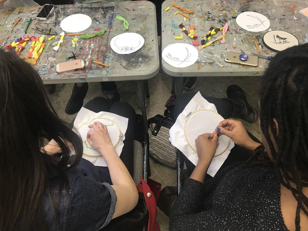 Akin Creative: Embroidery Workshop, 2018