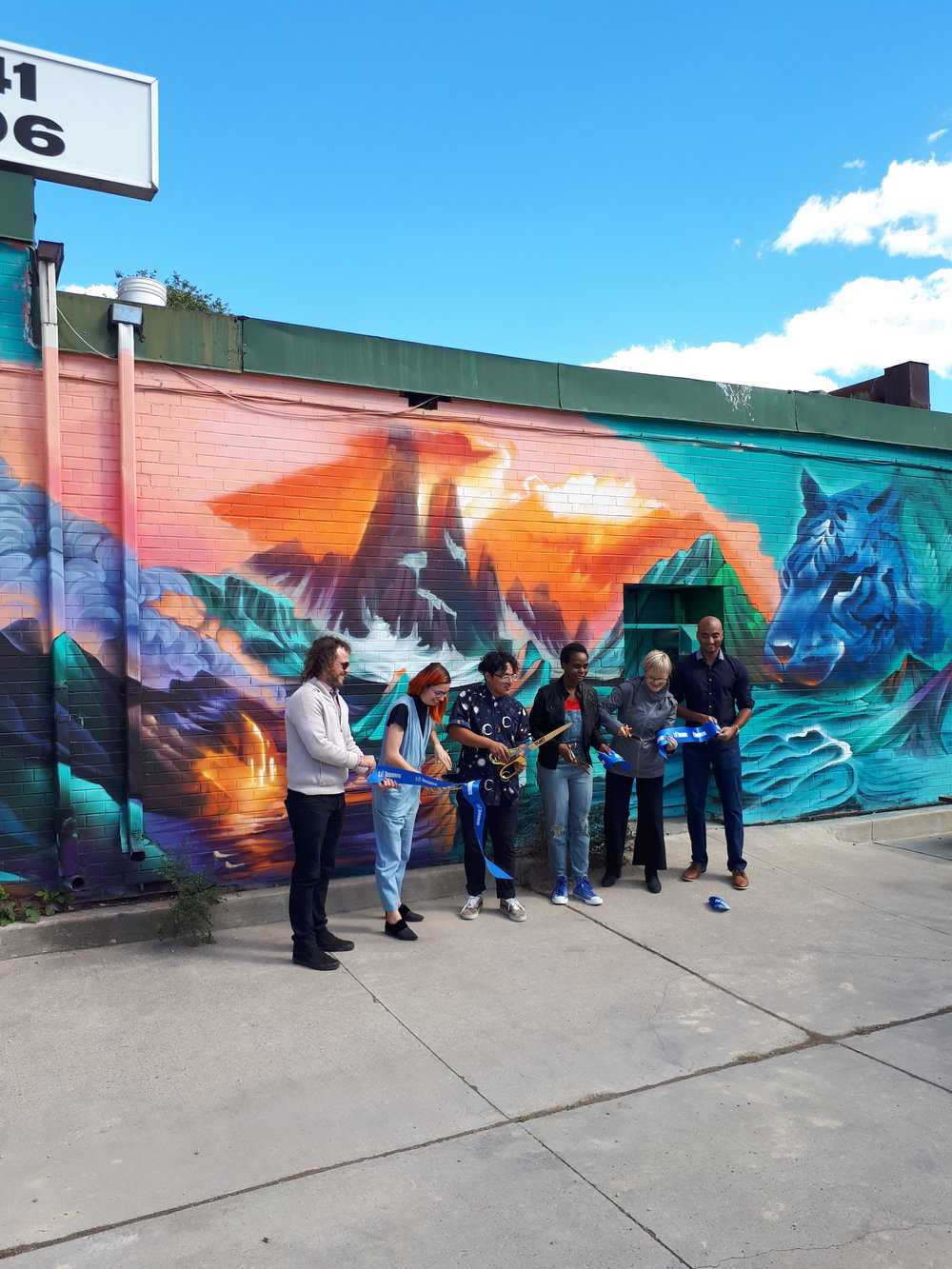 Mural unveiling at Akin St Clair with Street Art Toronto, 2018