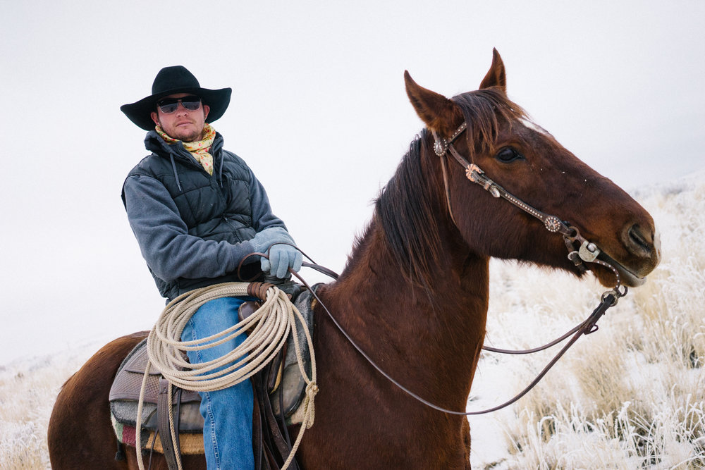 4 - Houston and his horse out for a ride in the desert.jpg