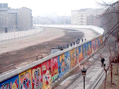 Berlin Wall. View from West Berlin in 1986.