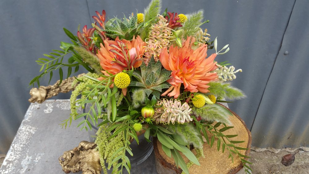 Colorful wedding floral arrangement