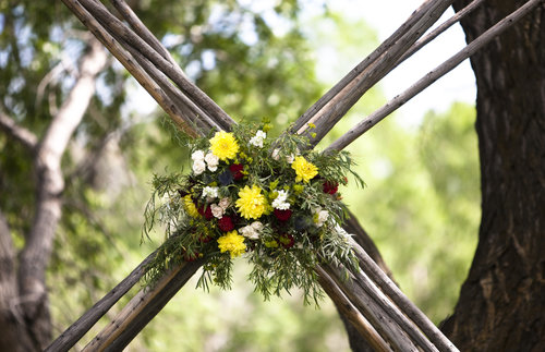 Wedding ceremony floral design