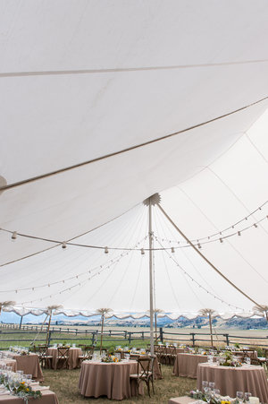 Wedding tent table design view