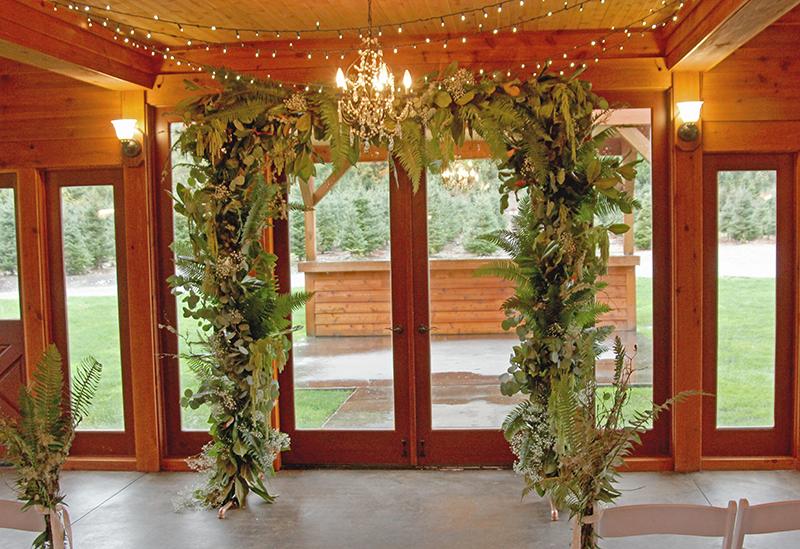 Rental copper pipe arch for event design