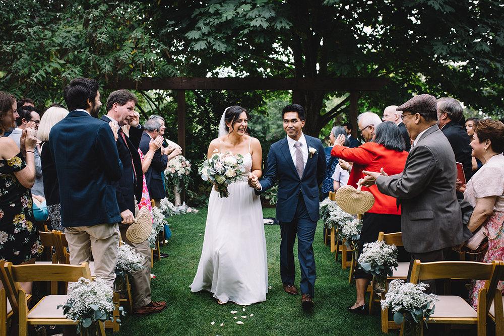 Wedding ceremony floral design