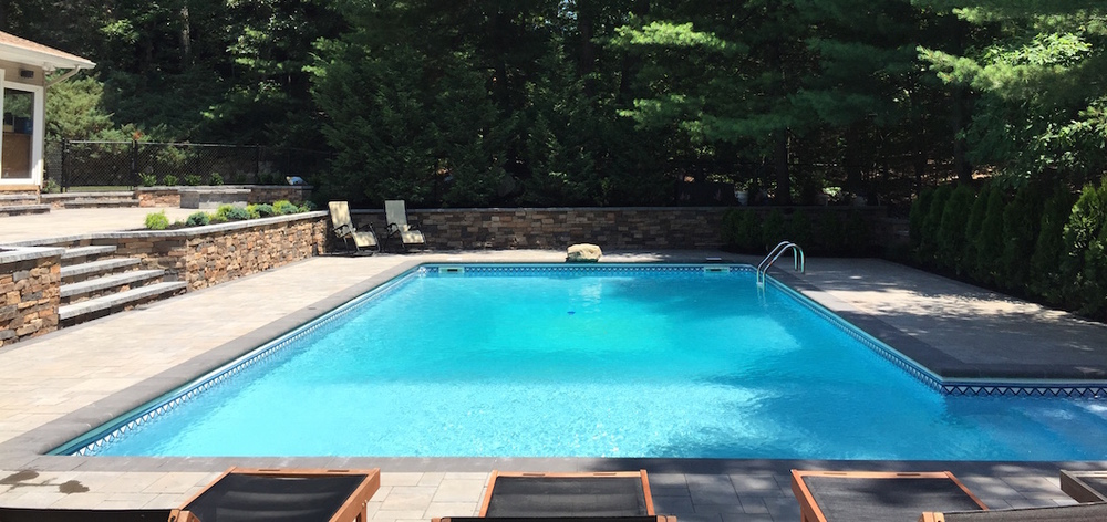privacy landscaping swimming pool patio in massapequa and smithtown, NY
