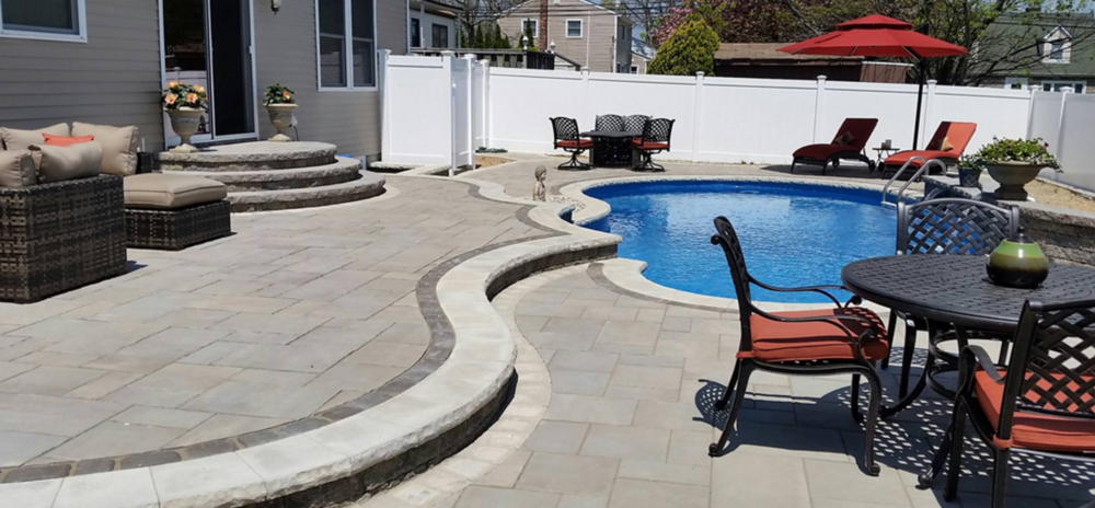 outdoor living room patio in Bethpage, NY