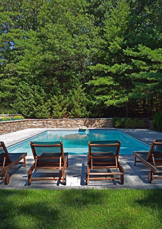 rectangular swimming pool design in Smithtown, NY