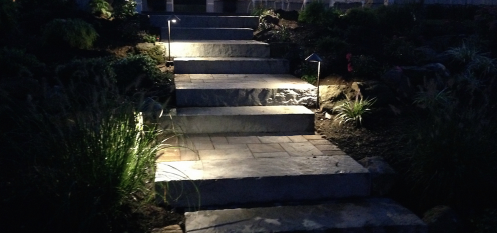 outdoor lighting front entrance and steps Smithtown, NY