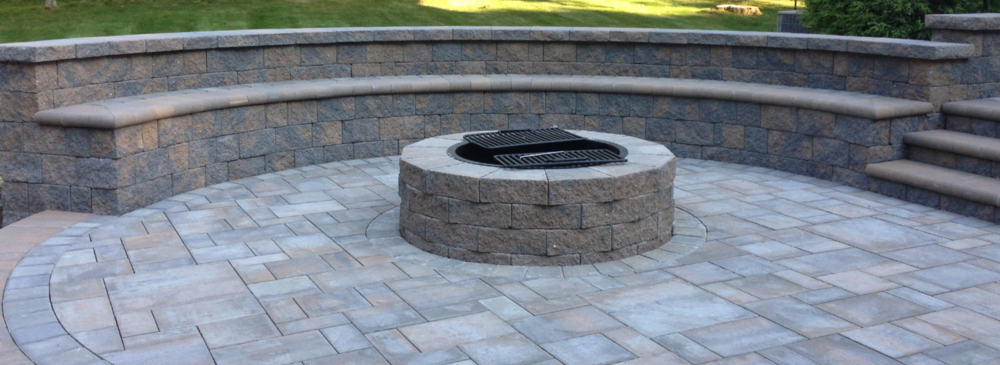fire pit and patio in outdoor long island ny