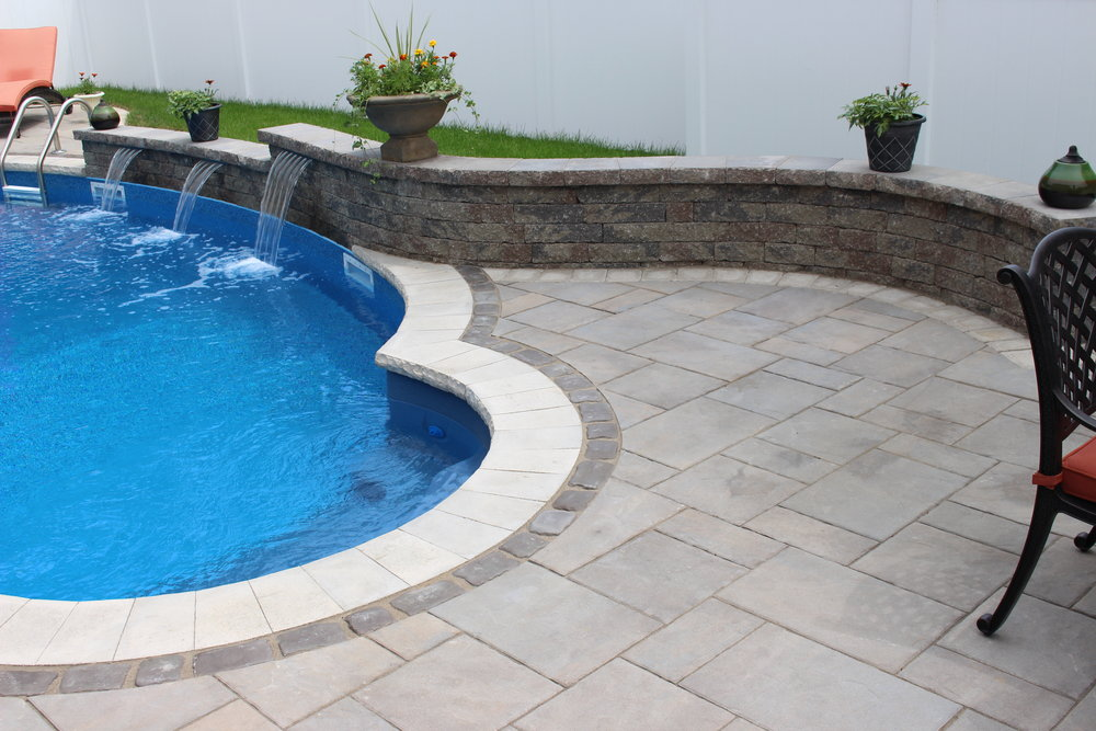Waterfalls in long island ny above all masonry for Pool design long island