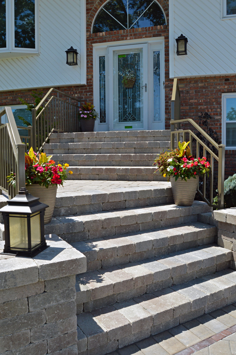 Natural stone steps on Long Island, NY