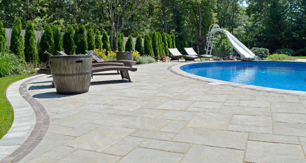 poolside patio in Smithtown, NY