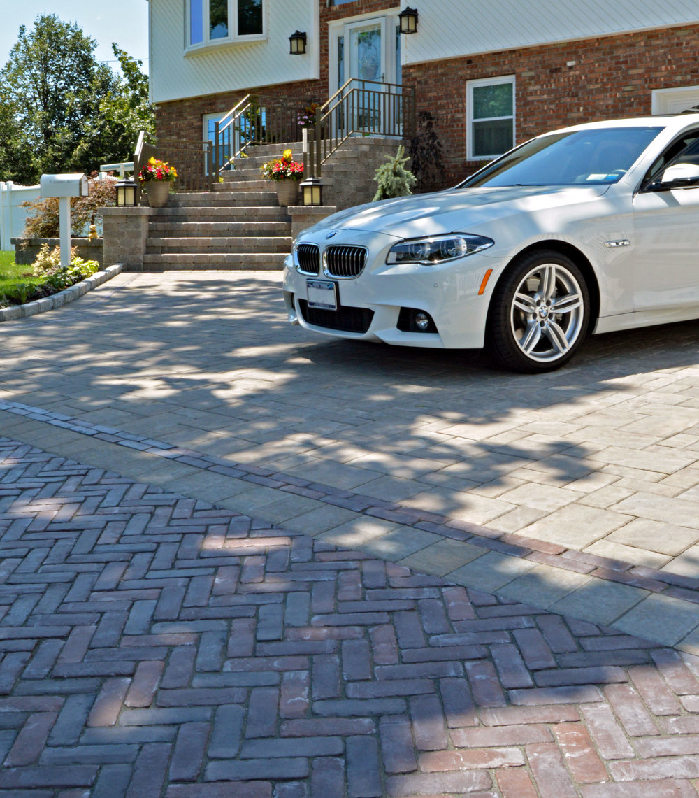 driveway and front entrance in Bethpage, NY