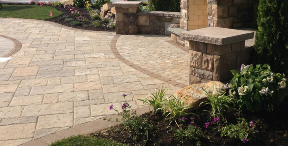 Holbrook, NY paver patio and outdoor fireplace