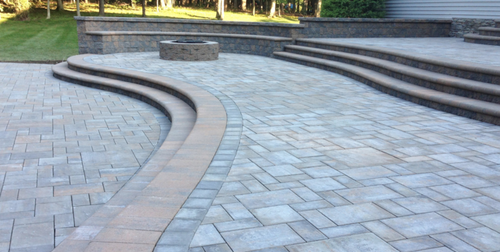 Manorville, NY paver patio and steps