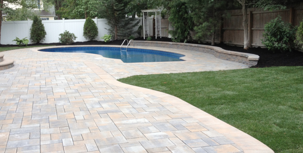 Mt. Sinai swimming pool and paver patio
