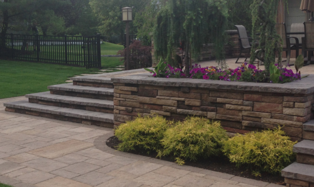 paver patio and steps in Melville, NY