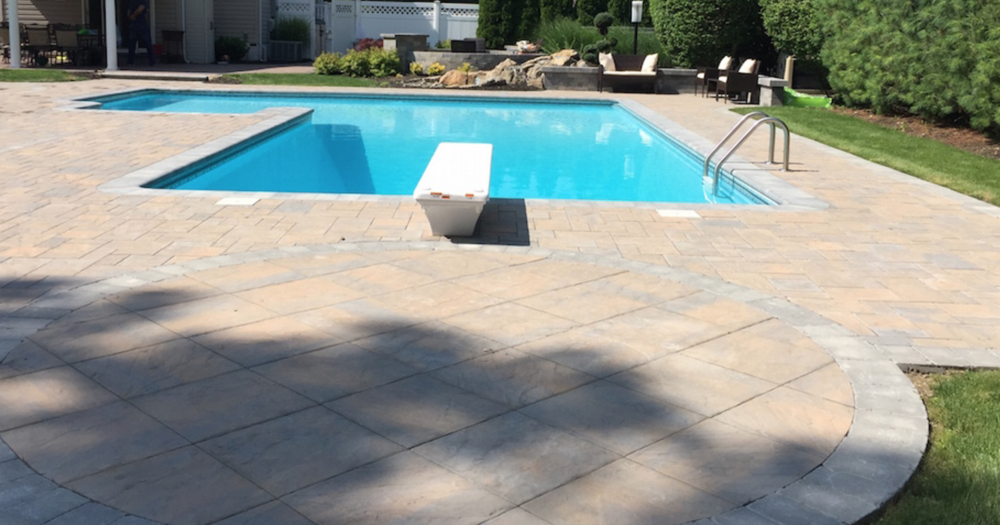 Holbrook, NY swimming pool patio