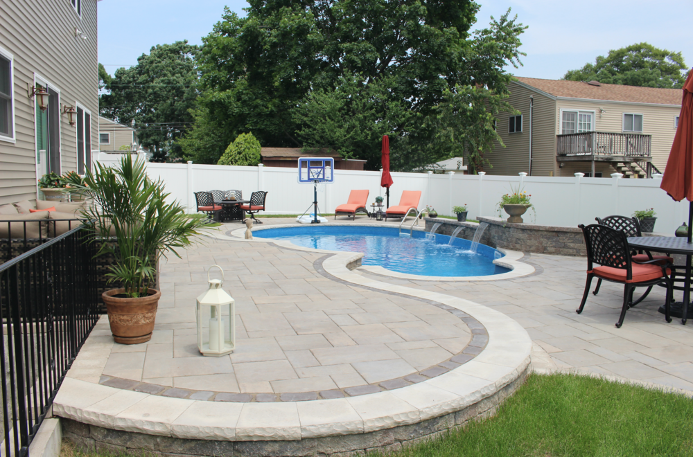 swimming pool patio in Massapequa, NY