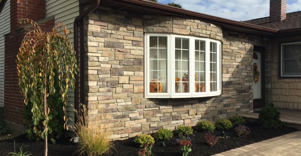 stone siding in a house in Holbrook, NY