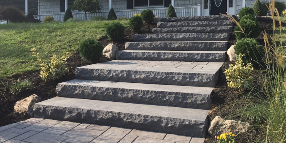 front steps in Hauppauge, NY