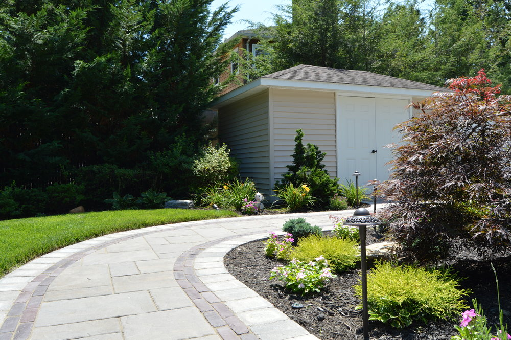 Holbrook, NY walkway and landscape design