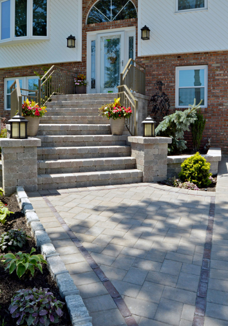 Front walkway steps in Massapequa and Bethpage, NY